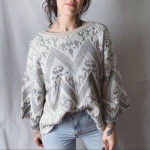 FREE PEOPLE Superstar Kimono Sleeve Sweater large